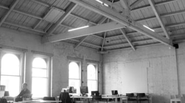 Caaht Studio Architects Header Hero - architecture | architecture, black and white, ceiling, daylighting, factory, hangar, monochrome, monochrome photography, photography, structure, gray, black