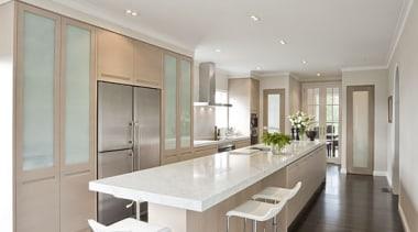 Remuera - ceiling | floor | flooring | ceiling, floor, flooring, furniture, interior design, kitchen, real estate, table, gray