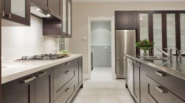 Mt. Eden II - cabinetry | countertop | cabinetry, countertop, cuisine classique, floor, flooring, interior design, kitchen, property, real estate, room, gray