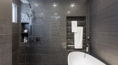 Bathroom Vanities - architecture | bathroom | floor architecture, bathroom, floor, flooring, interior design, property, room, tile, wall, gray, black