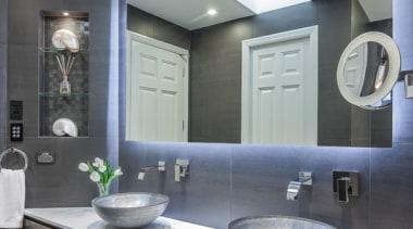 Bathroom Vanities - bathroom | ceiling | countertop bathroom, ceiling, countertop, home, interior design, kitchen, room, sink, gray, black