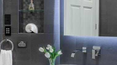 Bathroom Vanities - bathroom | bathroom accessory | bathroom, bathroom accessory, countertop, interior design, room, sink, tap, black, gray