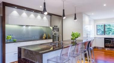 St. Johns - ceiling | countertop | floor ceiling, countertop, floor, flooring, hardwood, interior design, kitchen, real estate, table, wood flooring, gray