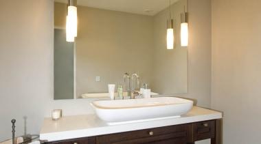 Bathroom Vanities - bathroom | ceiling | floor bathroom, ceiling, floor, flooring, interior design, lighting, room, sink, brown, black