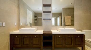 Bathroom Vanities - bathroom | bathroom cabinet | bathroom, bathroom cabinet, cabinetry, countertop, cuisine classique, interior design, kitchen, room, sink, brown, gray