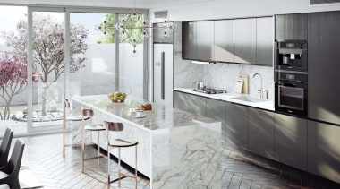 Dekton Kitchen – Bergen - architecture | building architecture, building, cabinetry, countertop, cuisine classique, cupboard, floor, flooring, furniture, home, house, interior design, kitchen, kitchen stove, major appliance, material property, property, room, table, tile, white, gray