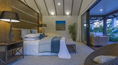 This expansive master bedroom in a resort-style residence architecture, bed, bedroom, building, ceiling, furniture, home, house, interior design, property, real estate, room, gray