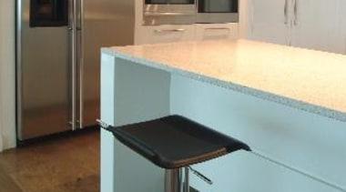 Newmarket - countertop | floor | flooring | countertop, floor, flooring, furniture, glass, interior design, kitchen, light fixture, table, gray, orange, brown