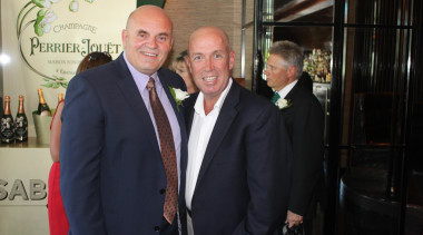 David Johnson (left) and Glenn Hyland - David suit, black