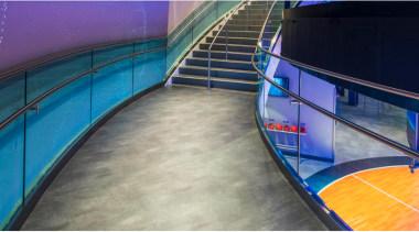 Architectural Bent Glass - NBA Disneyland Orlando - gray, blue