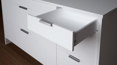 The 'T' drawer models have a higher drawer angle, chest of drawers, drawer, furniture, product, sideboard, white