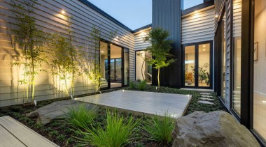 This is a low maintenance garden, with composite