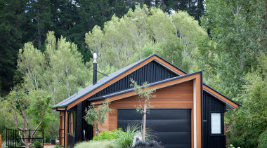 Highly Commended – 2016 Tida New Zealand Designer cottage, farmhouse, home, house, log cabin, plant, real estate, shed, siding, tree, green