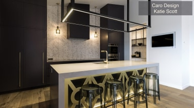 Highly Commended – Caro Design Katie Scott – countertop, interior design, kitchen, loft, black