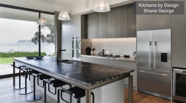 Highly Commended – Kitchen By Design Shane George countertop, interior design, kitchen, property, real estate, gray