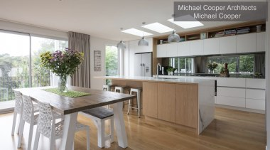 Highly Commended – Michael Cooper Architects – Tida countertop, cuisine classique, floor, interior design, kitchen, property, real estate, gray