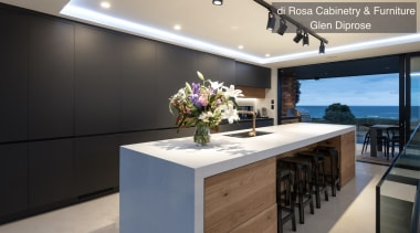 Highly Commended Di Rosa Cabinetry Furniture Glen Diprose countertop, interior design, kitchen, property, real estate, black