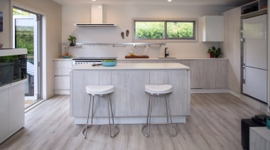Highly Commended – Berloni New Zealand - cabinetry cabinetry, countertop, cuisine classique, floor, flooring, hardwood, interior design, kitchen, laminate flooring, real estate, room, tile, wood, wood flooring, gray
