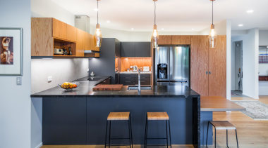 This kitchen was designed by Sang Architects with