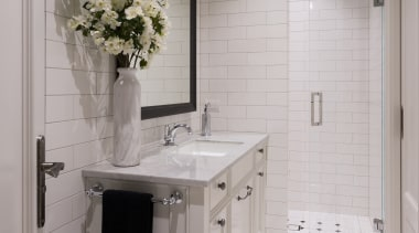 Bathroom Vanities - bathroom | bathroom accessory | bathroom, bathroom accessory, countertop, floor, flooring, home, interior design, room, sink, tile, gray