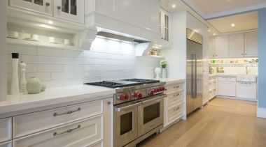 Campbells Bay - cabinetry   countertop   cuisine cabinetry, countertop, cuisine classique, floor, flooring, home appliance, interior design, kitchen, room, gray
