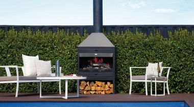 Indoor Outdoor Wood Fires 5 furniture, outdoor furniture, outdoor structure, table, white