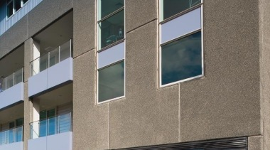 Below Wilco Precast manufactured and supplied black exposed apartment, architecture, building, commercial building, condominium, corporate headquarters, facade, home, house, real estate, residential area, window, gray, black