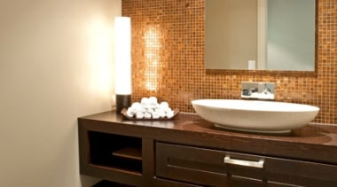 Mds Coatesville 36 - bathroom | floor | bathroom, floor, flooring, home, interior design, room, sink, tile, wall, wood flooring, brown, orange