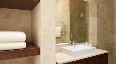 Bathroom Vanities - bathroom | floor | flooring bathroom, floor, flooring, interior design, room, sink, suite, tap, tile, wall, brown, white