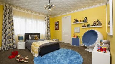 Childrens Bedroom bedroom, ceiling, home, interior design, property, real estate, room, wall, gray