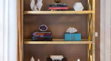 French classic-style residence by Massimo Interiors bookcase, drawer, furniture, shelf, shelving, brown