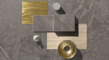 Moodboard – Dekton Korso - brass | metal brass, metal, gray