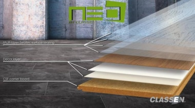 Neo Flooring angle, daylighting, floor, flooring, furniture, hardwood, table, tile, wall, wood, wood stain, gray, black