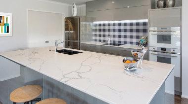 Designed by Kim Primrose of Mastercraft Kitchens Pukekohe, countertop, cuisine classique, floor, interior design, kitchen, real estate, room, gray, white