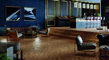 Polyflor offers modern vinyl floors in a wide floor, flooring, interior design, lobby, brown