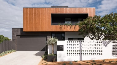 Timber cladding, dark brickwork and a painted steel , architecture, design, facade, home, house, residential, timber, Dalecki Design