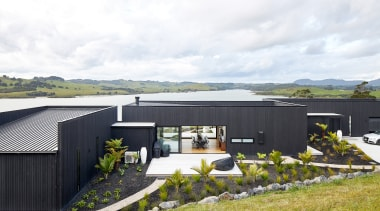 The three pavilions comprising this holiday home by