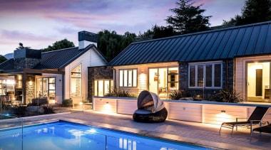 Niagara Header Hero cottage, estate, family car, home, house, lighting, property, real estate, swimming pool, villa, window, blue