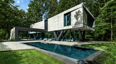 Querkopf video image - architecture | backyard | architecture, backyard, building, cottage, courtyard, design, estate, facade, farmhouse, home, house, interior design, landscape, landscaping, leisure, property, real estate, residential area, roof, room, swimming pool, tree, villa, yard, green