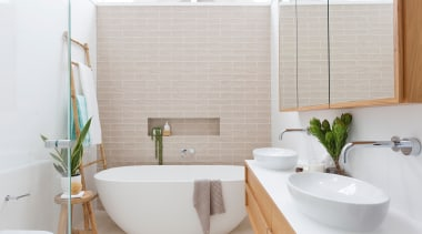 A clear, well considered budget should include building architecture, bathroom, bathroom accessory, bathtub, building, ceramic, floor, flooring, furniture, home, house, interior design, material property, plumbing fixture, property, real estate, room, sink, tap, tile, toilet, wall, white, gray, white