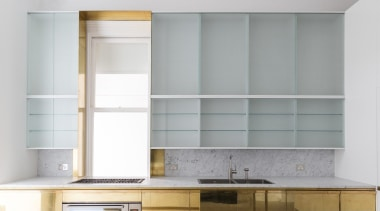 Renato Dettorre Architects – Highly Commended – 2018 cabinetry, furniture, interior design, shelf, shelving, wall, gray, white