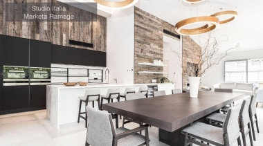 Runner Up – Studio Italia Marketa Ramage – countertop, dining room, interior design, kitchen, table, white