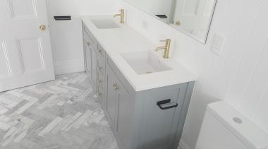 Screen Shot 2018 07 05 At 8 37 bathroom, bathroom accessory, bathroom cabinet, bathroom sink, drawer, floor, plumbing fixture, product, room, sink, tap, tile, gray, white