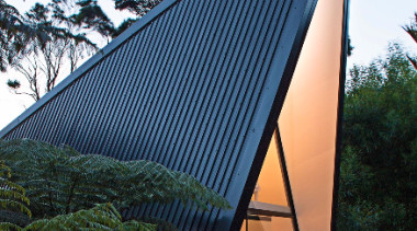 Ebony, ENDURA®, The Tate Home - architecture   architecture, building, facade, house, landmark, outdoor structure, roof, sky, structure, tree, black, white