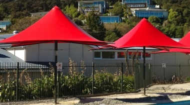 Summit Parasols - canopy | outdoor structure | canopy, outdoor structure, real estate, shade, tent, umbrella, brown