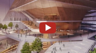 By Diller Scofidio + Renfro - Concept design architecture, building, commercial building, community centre, convention center, design, interior design, mixed-use, performing arts center, real estate, urban design, red, gray