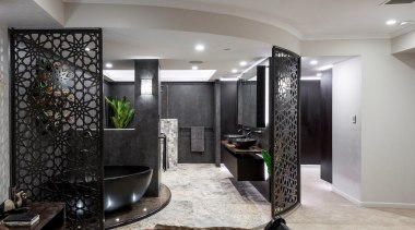 Sublime Architectural Interiors – Winner – Tida Aus ceiling, floor, interior design, lobby, room, gray, black
