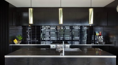 Tida Highly Commended – Ponting Fitzgerald countertop, interior design, kitchen, black, gray