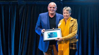 2019 TIDA New Zealand Homes presentation evening award, award ceremony, event, yellow, blue