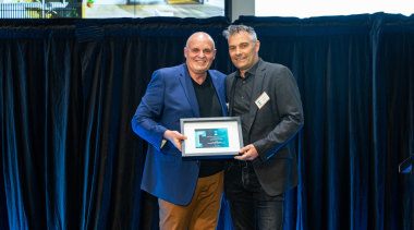 2019 TIDA New Zealand Homes presentation evening award, award ceremony, blue, electronic device, employment, event, technology, blue, black